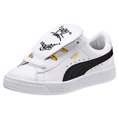 PUMA-MinionsBasketTonguePS孩童鞋-白色