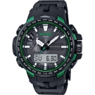 CASIO 卡西歐 PRO TREK 專業登山太陽能電波手錶-綠/58mm