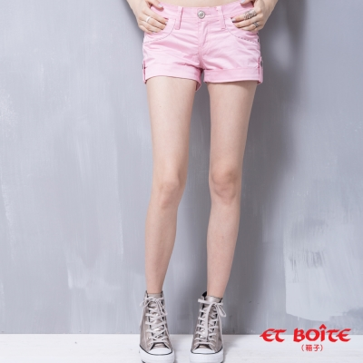 ETBOITE 箱子 BLUE WAY Amour心型短褲-粉色