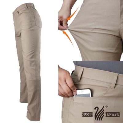 【遊遍天下】基本款修身彈力時尚休閒長褲P137卡其