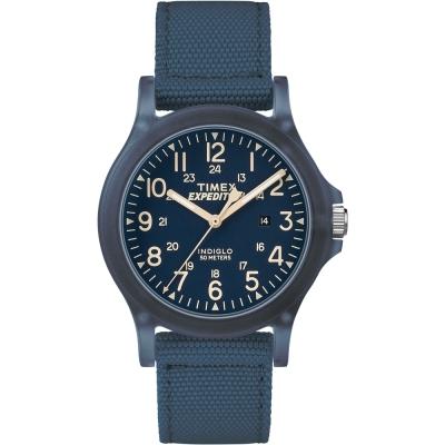 TIMEX天美時遠征系列探險手錶-藍36mm