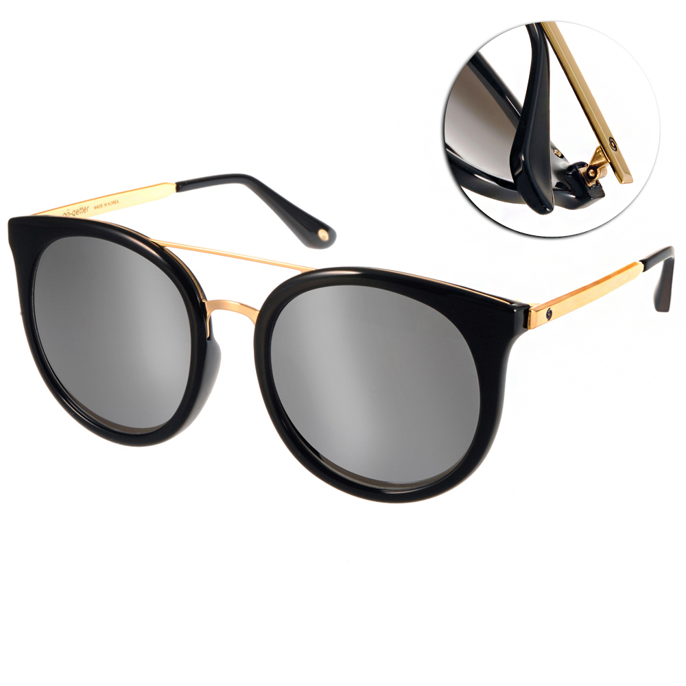 Go-Getter太陽眼鏡 韓系貓眼款/黑金-白水銀#GS4014 C02