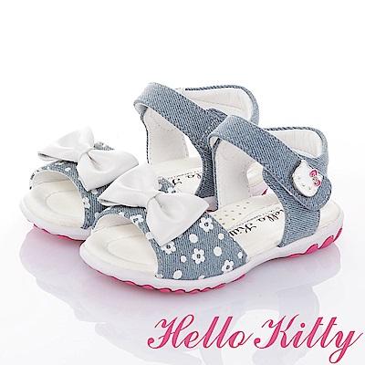 HelloKitty牛仔布系列 手工鞋超纖減壓防滑涼鞋童鞋-水