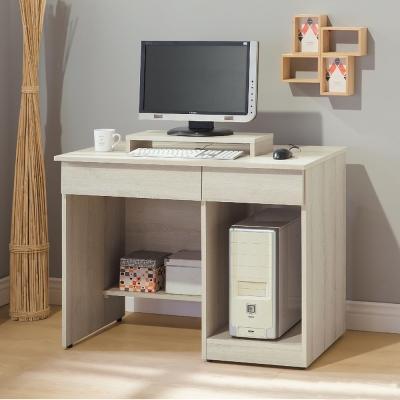 Boden-威德3.2尺二抽半開放式書桌(贈鍵盤架)-97x53x76cm