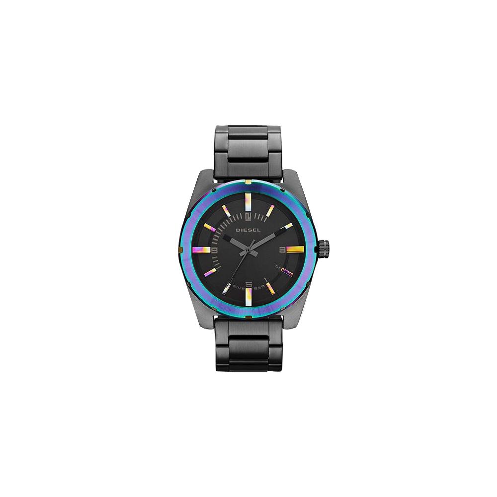 DIESEL Analog 戰慄潮牌腕錶-IP黑/44mm