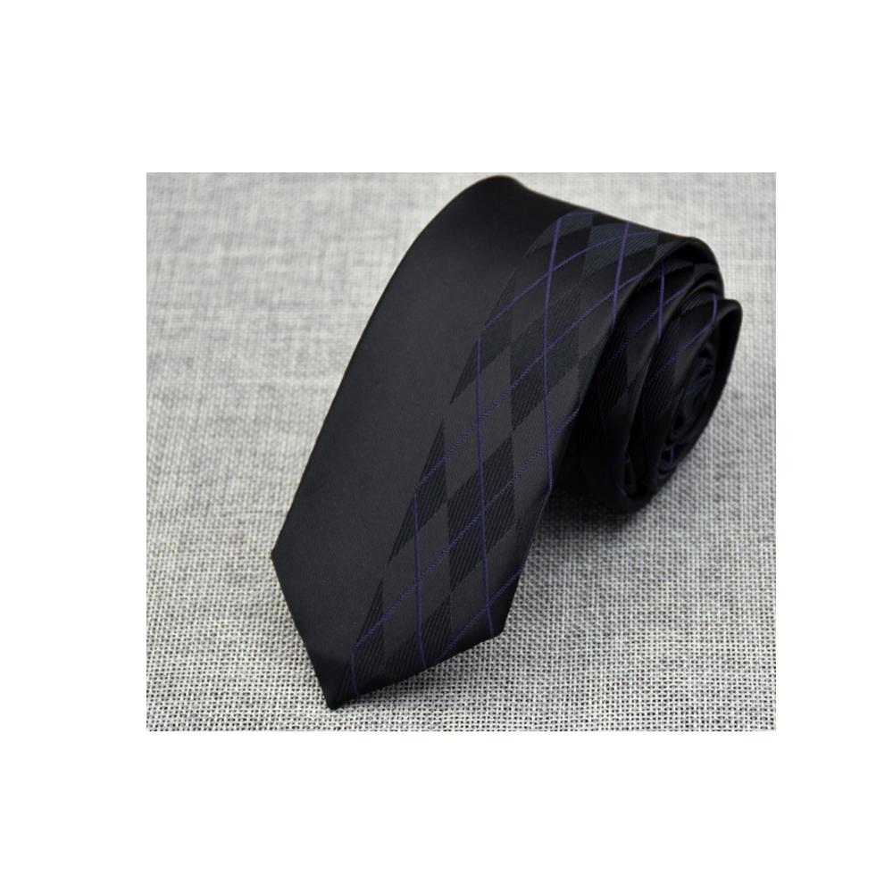 拉福 領帶窄版領帶6cm格少風領帶手打領帶(黑)