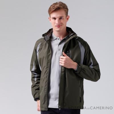 ROBERTA諾貝達 嚴選穿搭 雙色拼接內刷毛夾克外套 暗綠