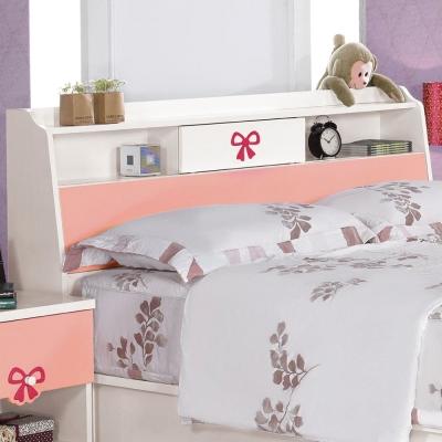 品家居-粉紅佳人3-5尺單人床頭箱