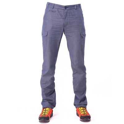 【hilltop山頂鳥】男款HITEC輕量吸濕快乾抗UV合身長褲S07M99-藍