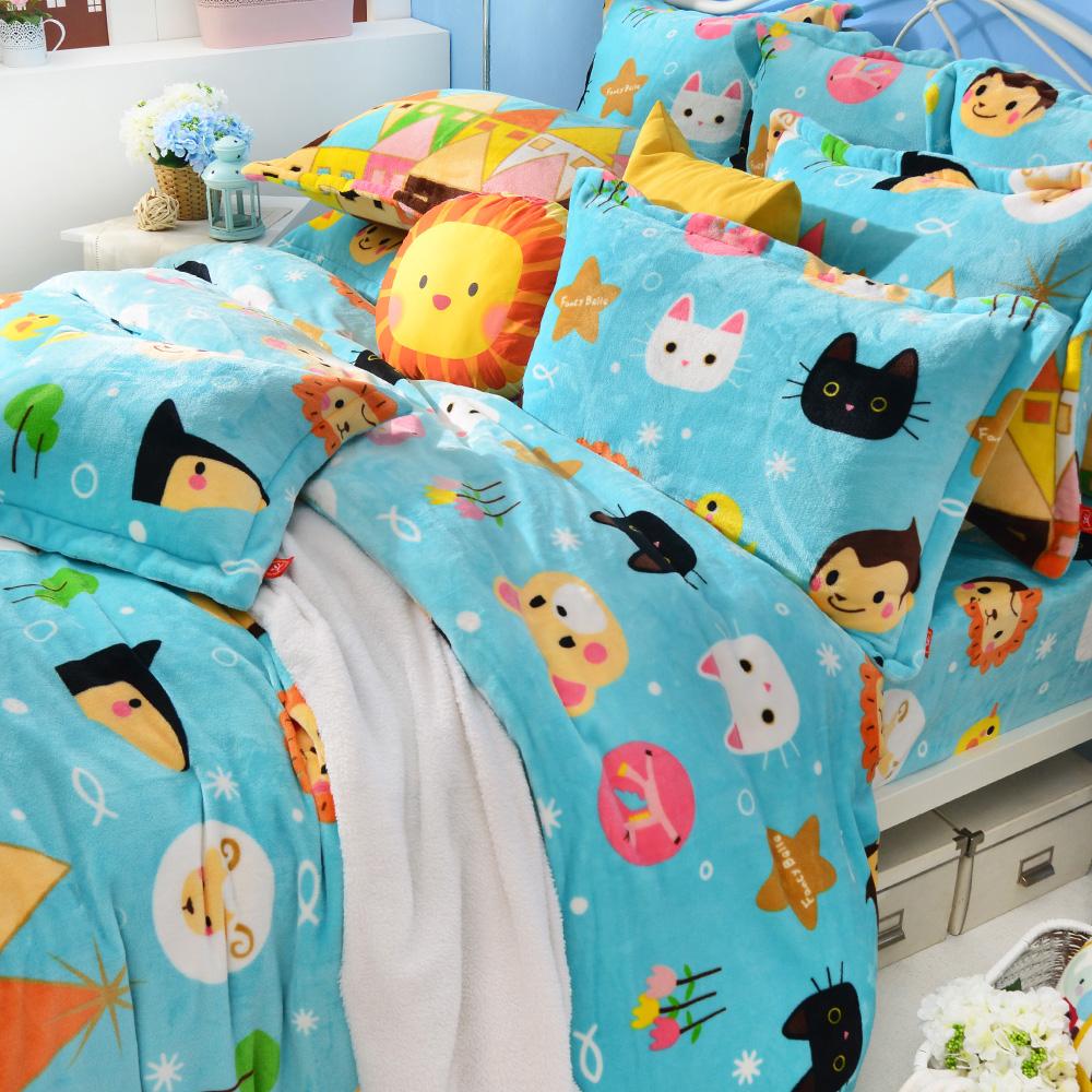 Fancy Belle X Malis 我們幸福的家 單人三件式防蹣抗菌雪芙絨被套床包組