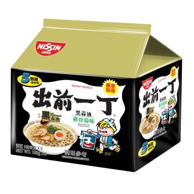 日清 出前一丁黑蒜油豬骨濃湯味速食麵(100gx5入)
