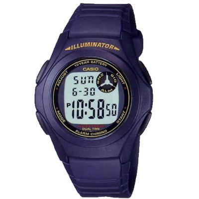 CASIO 超強10年電力數位錶(F-200-2B)-藍