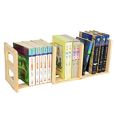 LIFECODE 極簡風-松木桌上型伸縮書架