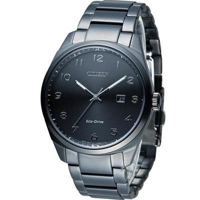 CITIZEN 星辰 光動能紳士時尚腕錶(BM7325-83E)-黑42mm