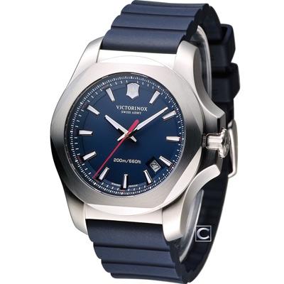 Victorinox 維氏 INOX 130周年軍事標準腕錶-藍/43mm