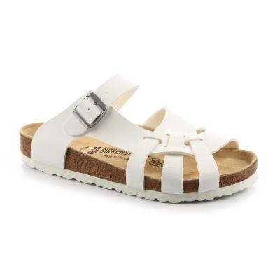 勃肯BIRKENSTOCK 075731。APISA比薩 編織涼鞋(白)