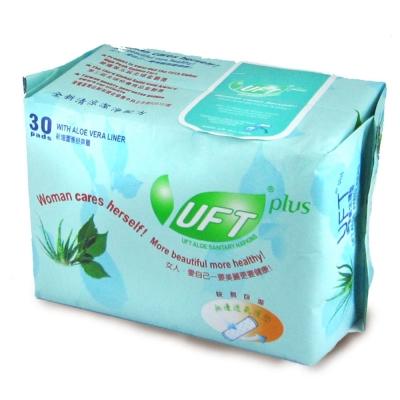 UFT蘆薈草本衛生棉--乾爽護墊30入超值組 (30片裝x30包)