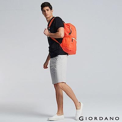 GIORDANO 運動休閒輕雙肩後背包 - 01 橘子橙