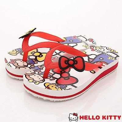 HelloKitty童鞋 不對稱夾腳拖鞋款 EI18154白(小童段)
