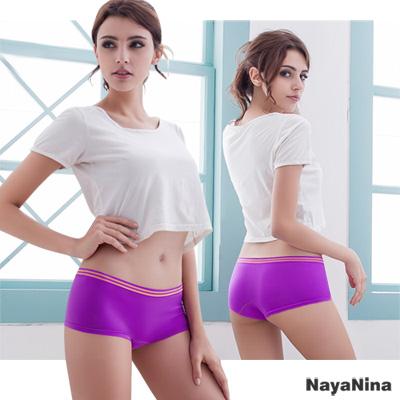 內褲 無縫彈力低腰平口褲S-XL(紫)Naya Nina
