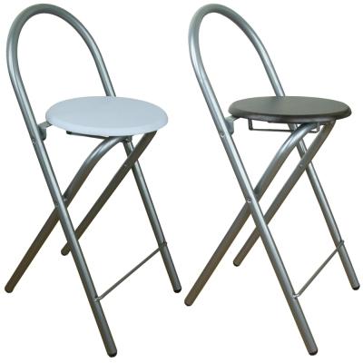 頂堅鋼管(木製椅座)折疊椅4入 (二色)