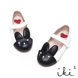 iki2童鞋-咕妮兔系列-羊皮粉嫩配色娃娃鞋-雲朵白