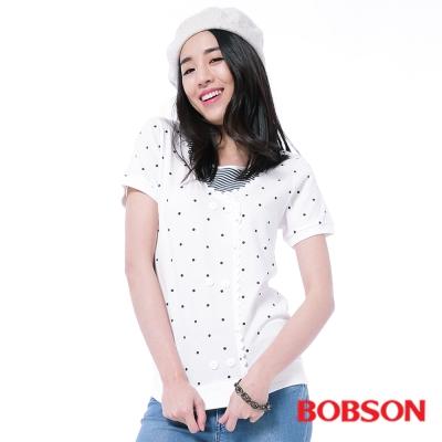 BOBSON  女款仿兩件式印點上衣