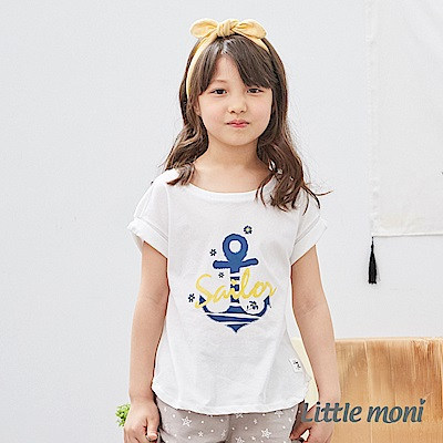 Little moni 船錨造型上衣 (2色可選)