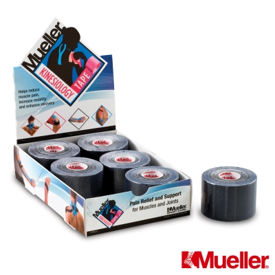 MUELLER慕樂 M肌內效貼布 5CM*5M 黑色 /卷 肌貼(MUA28147)