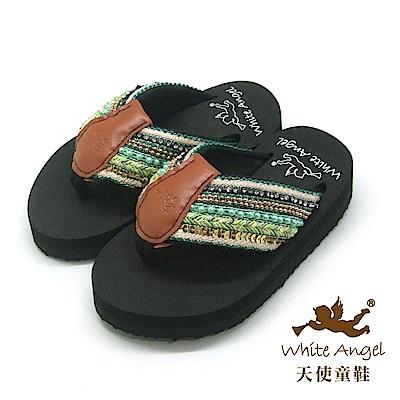 天使童鞋-卡爾蜜雅夾腳親子拖鞋(中-大童)-綠