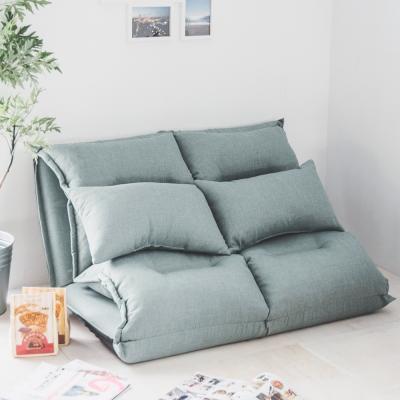 Home Feeling 沙發床/和室椅/雙人/抱枕(2色)-110x220x8cm