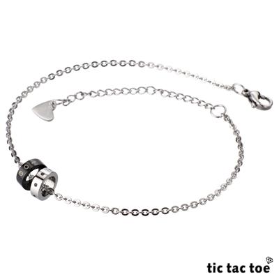【tic tac toe】自由 女腳鍊(黑鈦)