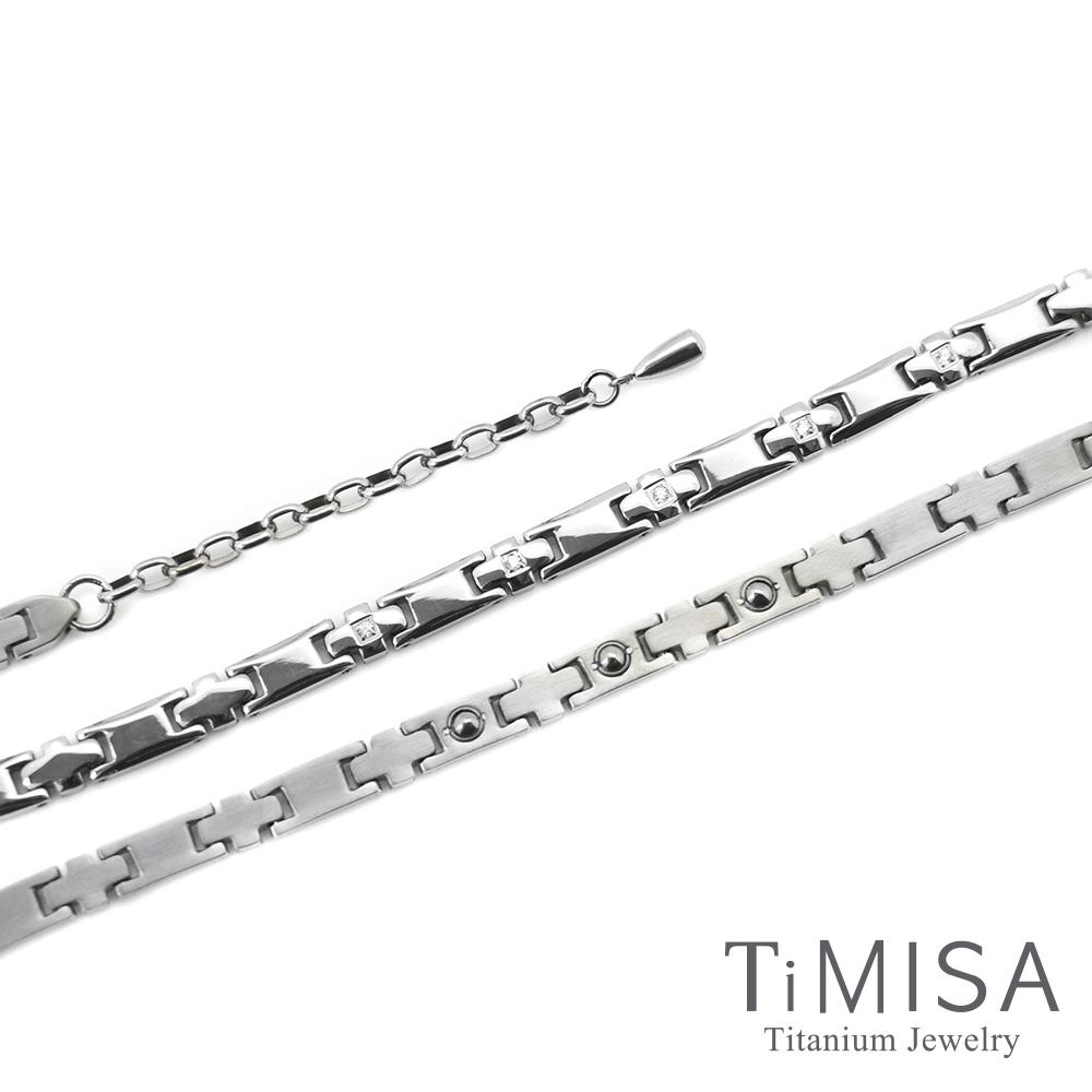TiMISA 愛戀十字星-晶鑽版 純鈦鍺項鍊