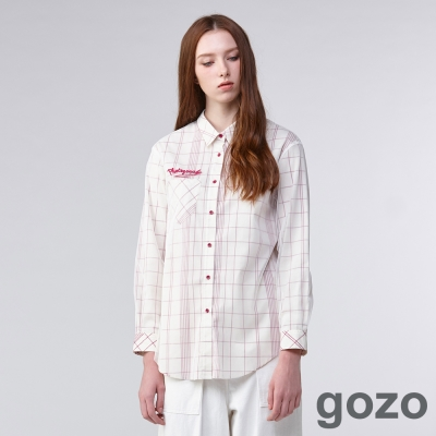 gozo迷幻攝影格紋襯衫(二色)