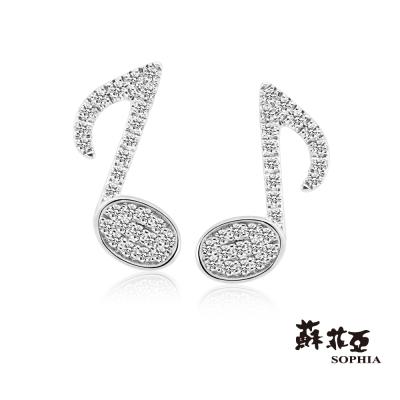 蘇菲亞SOPHIA - 8分音符造型0.19克拉鑽石耳環