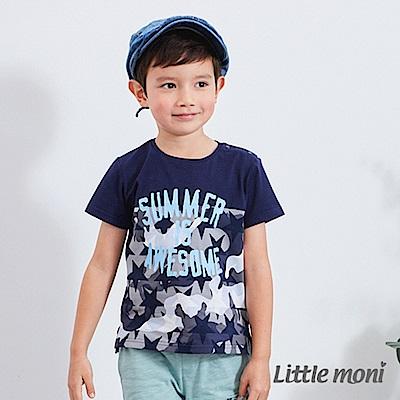 Little moni 迷彩拼接TEE (2色可選)