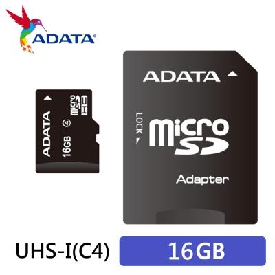 ADATA威剛 microSDHC Class4 16G記憶卡(附轉卡)
