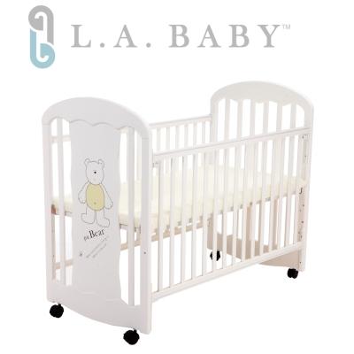 ( 美國 L.A. Baby)卡羅萊納嬰兒中床/搖擺床/童床(白色)