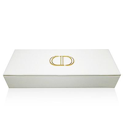 Dior迪奧 白色皮革硬殼收納盒(橫長28cm 寬10cm 直高5cm)