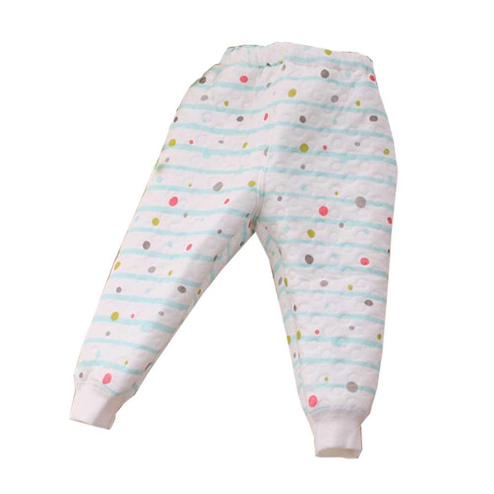 嬰幼兒三層棉居家睡褲 綠 k60059