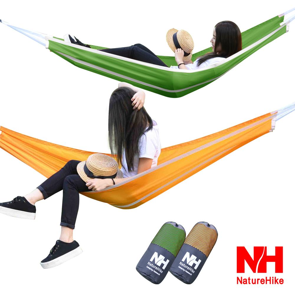 Naturehike 戶外降落傘布輕量單人吊床 綠色