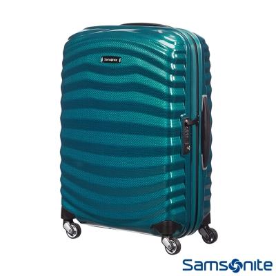 Samsonite新秀麗20吋Lite Shock極輕Curv四輪拉桿頂級硬殼箱(孔雀藍)