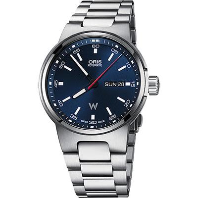 Oris Willimas F1賽車系列日曆星期機械錶-藍x銀/42mm