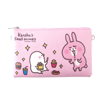 Kanahei卡娜赫拉皮質橫式手機袋/萬用包/手腕袋_貪吃鬼