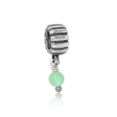 Pandora 潘朵拉 閃耀亮綠水晶 垂墜純銀墜飾 串珠