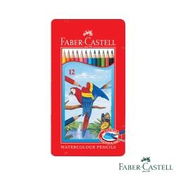 Faber-Castell紅色系水性彩色鉛筆-12色鐵盒裝