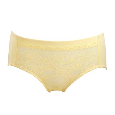 黛安芬-透氧魔術-M-EL平口褲-蜂蜜檸黃