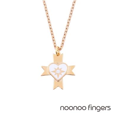 Noonoo Fingers Oscar 奧斯卡愛心水鑽項鍊