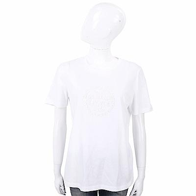TORY BURCH DEMI 亮片經典圖騰白色棉質T恤