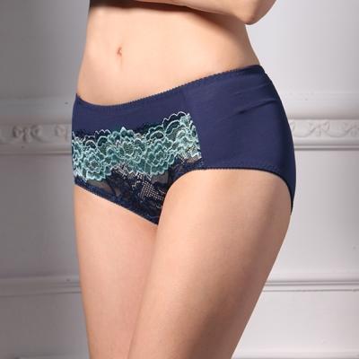 可蘭霓Clany 時尚優雅蕾絲M-XL內褲 閃耀藍